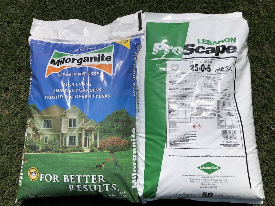 proscape and milorganite to feed golf course lawn